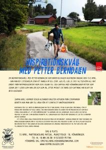 Affisch Maja Lindström föredrag med Husfadern Hökarängen