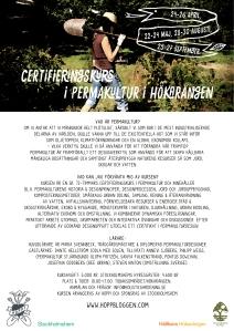 Affisch Maja Lindström permakulturkurs Hökarängen