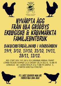 ekologiska ägg affisch Maja Lindström