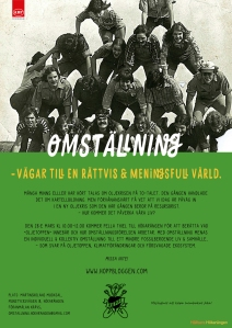 Affisch Maja Lindström omstallningsforedrag med Pella Thiel Hökarängen