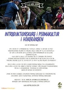 Affisch Maja Lindström introkurs i permakultur Hökarängen